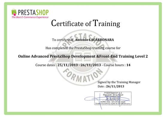Certificazione Prestashop