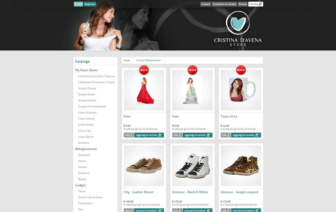 Cristina D'Avena Store
